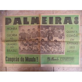 Jornal De 1951 Palmeiras Campeão Mundial Da Taça Rio 1951