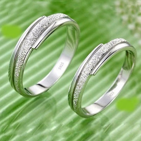 Silver Couples Ring Set