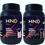 Hnd Whey Protein Kit Hinode 2 Potes, Morango Ou Chocolate