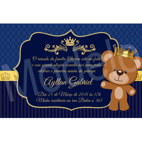 Convites Realeza Azul Marinho E Dourado Convites No Mercado Livre