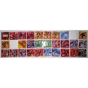 Elma Chips Tazos Escolha 5 Stamps Montáveis Marvel Com Fundo