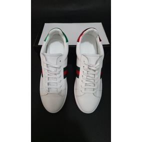 Zapatillas Deportiva De Cuero Ace Gucci Hombre Original a17f14940f5