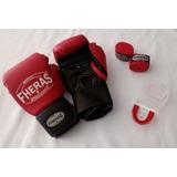 Kit Boxe Muay Thai Fheras Luva /bandagem / Protetor Bucal