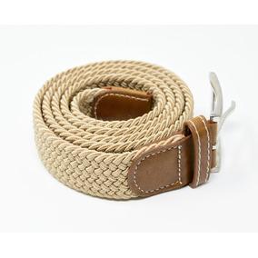 Cinturón Elastico Trenzado Para Hombre Marca Corda Beige 02
