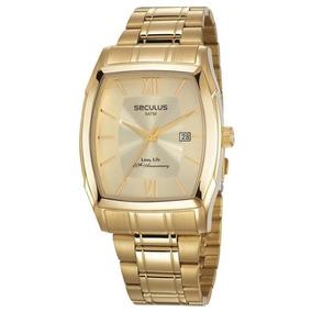 7c8b7e88d61f8 Relógio Seculus Masculino Quadrado - - Relógios De Pulso no Mercado ...