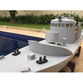 Navio De Guerra - 85cm Decorativo