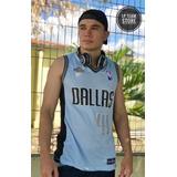 Camiseta Regata Dallas Azul Unissex - Basquete E Academia