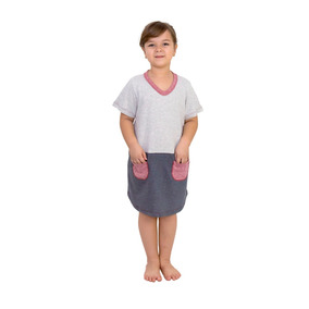 Camisola Infantil C  Manga Curta 100% Algodão C  Recorte Off 4288f1611ec