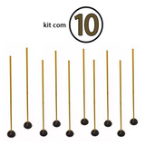 Kit 10 Estacas De Agilidade Com Base 160mts
