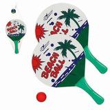 Kit Frescobol 2 Raquetes E Bolinha Art Sport Original