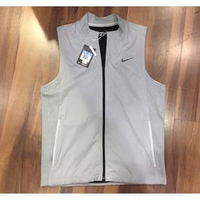 edbcdb9491ecc Colete Nike Corta Vento Cinza Com Preto Original
