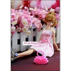 Bolsa Fashion Rosa Para Boneca Barbie / Susi / Blythe * F16