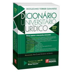 Dicionário Universitário Jurídico Rideel 2018