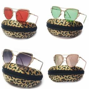 5d992be601884 Óculos Colorido Gatinho Feminino Transparente Oferta+case