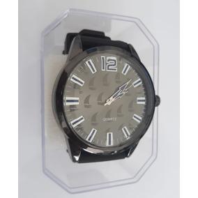 Relógio Masculino Com Caixa De Acrílico