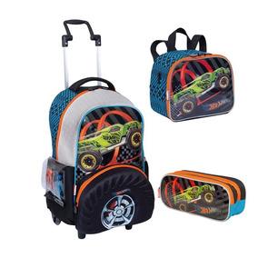 Kit Escolar Mochilete + Lanch+est Hot Wheels 19z - Sestini 8ea5402b4052e