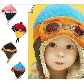 4a439c29620e1 Touca Criança Infantil Aviador Azul Marrom Rosa Vermelha