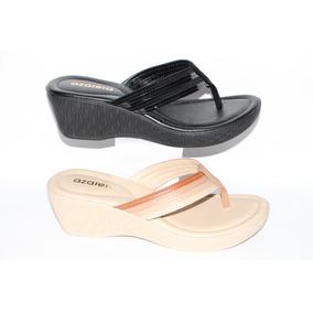 7422c9cee Linda Sandalia Plataforma Azaleia - Sapatos no Mercado Livre Brasil