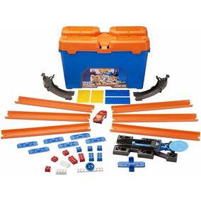 Hot Wheels Balde Kit Track Builder + 1carrinho 35 Pçs Mattel
