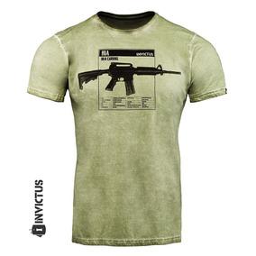 Camiseta T-shirt Concept Invictus Fuzil M4 Carbine 2018