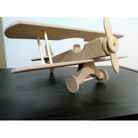 Lembrança Para Festa Infantil Avião Biplano Madeira Cod.27