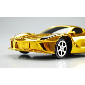 Carro Juguete Dorado Económico Ferrari Velocidad Niños