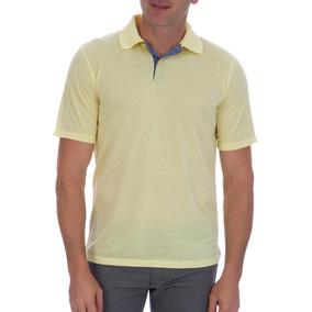 2b8e7c4cd Camisa Polo Colombo Masculina Amarela Com Detalhe