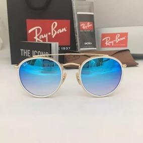 f25494ce0bc12 Oculos De Sol Ray Ban Round Double Bridget Rb3647 Unissex