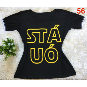 832f801521 Kit 4 Blusa Blusinha Camiseta T-shirt Body Moda Blogueira