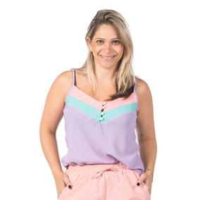 Blusinha Feminina Perolas Botões Moda Verão 2019