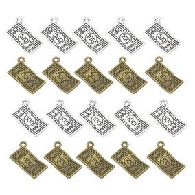20 Piezas De Dólar Antiguo Encantos Colgante Para Collar De