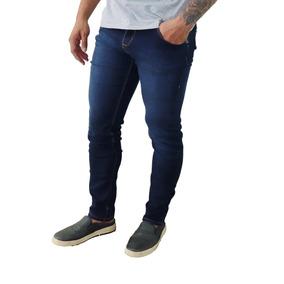 Kit Com 3 Calça Jeans Sarja Masculina Skinny Lycra Colorida