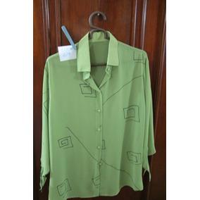 = Roupa Lote 619 Mulher Camisa Social Seda Classica Xl