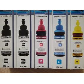 Kit 5 Tintas De 100ml Cada Para Impressora Epson Ecotank