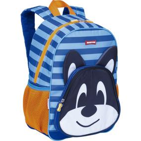 Mochila Infantil Escolar Sestini Kids Dog Azul 065152-00