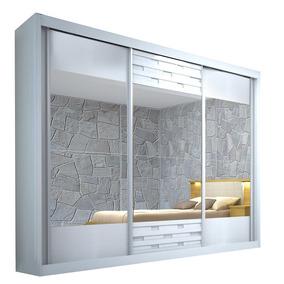 Guarda-roupa Sensação Com Espelho - 3 Portas - 100% Mdf - Br
