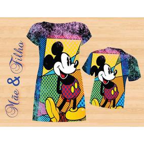 Vestido Adulto + Blusa Infantil - Mickey Colors