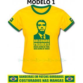 Camiseta Baby Look Feminina Bolsonaro Diversos Modelos