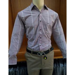Camisa Mariscal Slim Manga Larga Para Hombre