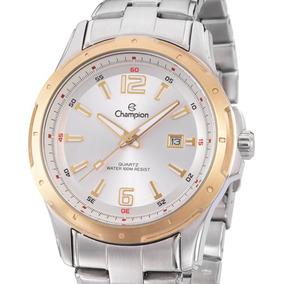 Relógio Champion Masculino Dourado Ca30552s Original Nf