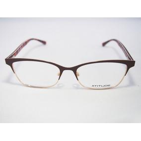 Armacao De Oculos Feminino Atitude - Óculos no Mercado Livre Brasil 3e22821adf