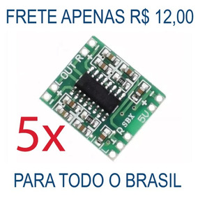 Amplificador Som Estéreo 2ch 3w + 3w Pam8403 Arduino (5 Pçs)