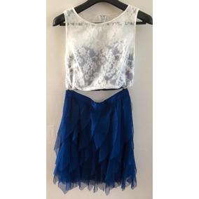 Conjunto De 2 Piezas Para Mujer Talla 6 Color Beige/azul Rey