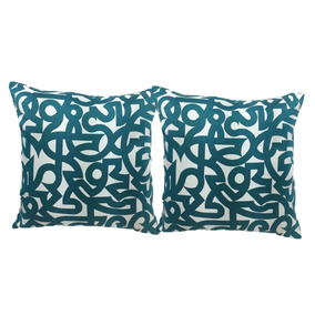 Cojines Decorativos Set 2 Piezas Effi Azul 45x45cm