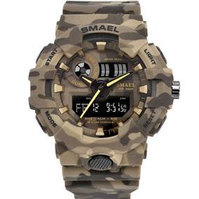 Relógio Militar Esportivo Digital Shock Camuflado