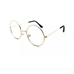 Óculos Armação Metálica Oval Perfeito Oculos - Óculos Armações no ... cebbcf8d04