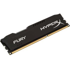 Memória Gamer Kingston 8gb 1600mhz Ddr3 Hyperx Fury Black