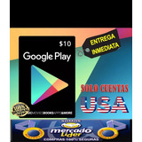 Tarjeta Google Play Store Gift Card 10 Usd Usa
