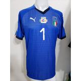 7e45b3e98f Camisa Itália Home 18-19 Buffon 1 Vs Macedonia Importada