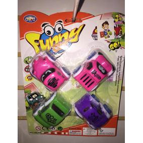 4 Divertidos Carros De Fricción Para Fiesta Piñata Bolo